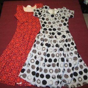 Womens LuLaRoe Dresses Lot of 2 Sz XS
